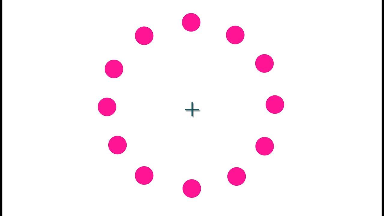 Optical Illusion: Rotating Dots - YouTube
