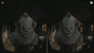 Escape Pennywise VR Google Cardboard 3D SBS Virtual Reality Video