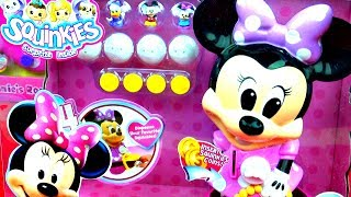 Disney Minnie Mouse Squinkies Bubble Surprises Playset Mickey Mouse Daisy Duck Dispenser FluffyJet