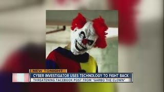 Man does 'police work' to track down creepy clown making threats