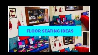 Floor seating ideas || Seating area arrangement