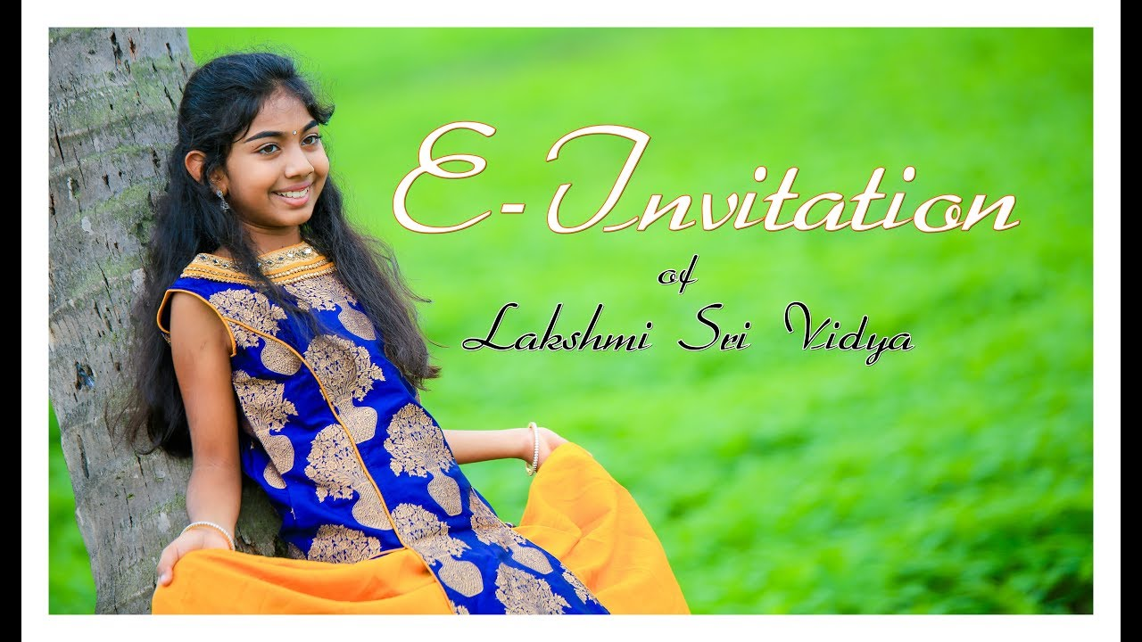 EInvitation of Lakshmi Sri Vidyas Half Saree Cermony YouTube