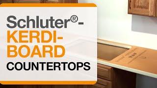 Schluter®-KERDI-BOARD: Countertops