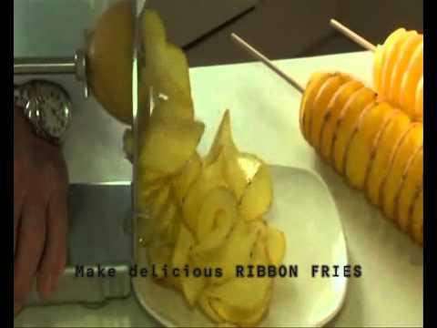 Makes Tornado Potatoes, Curly Fry, Ribbon Fry, Tater Dog Twist, Potato Chips and more...