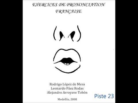 Exercices de prononciation française