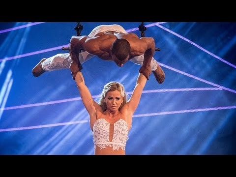 Sarah Harding's Trapeze performance to 'Beneath Your Beautiful' - Tumble: Grand Final - BBC One
