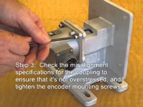 How to install a shafted rotary encoder