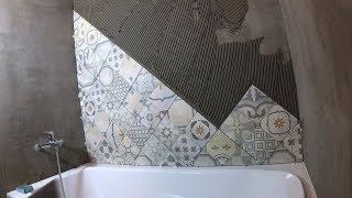 Как быстро сделать диагональную подрезку плитки. Лайфхак!