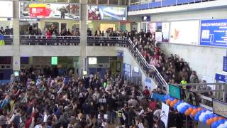 "Odesa Airport flash mob, EU anthem ""Ode to joy"" by Odessa National Opera Theatre"