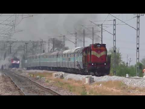 Last days of diesel run | Present AC Traction Change | GTL-WADI | Indian railways