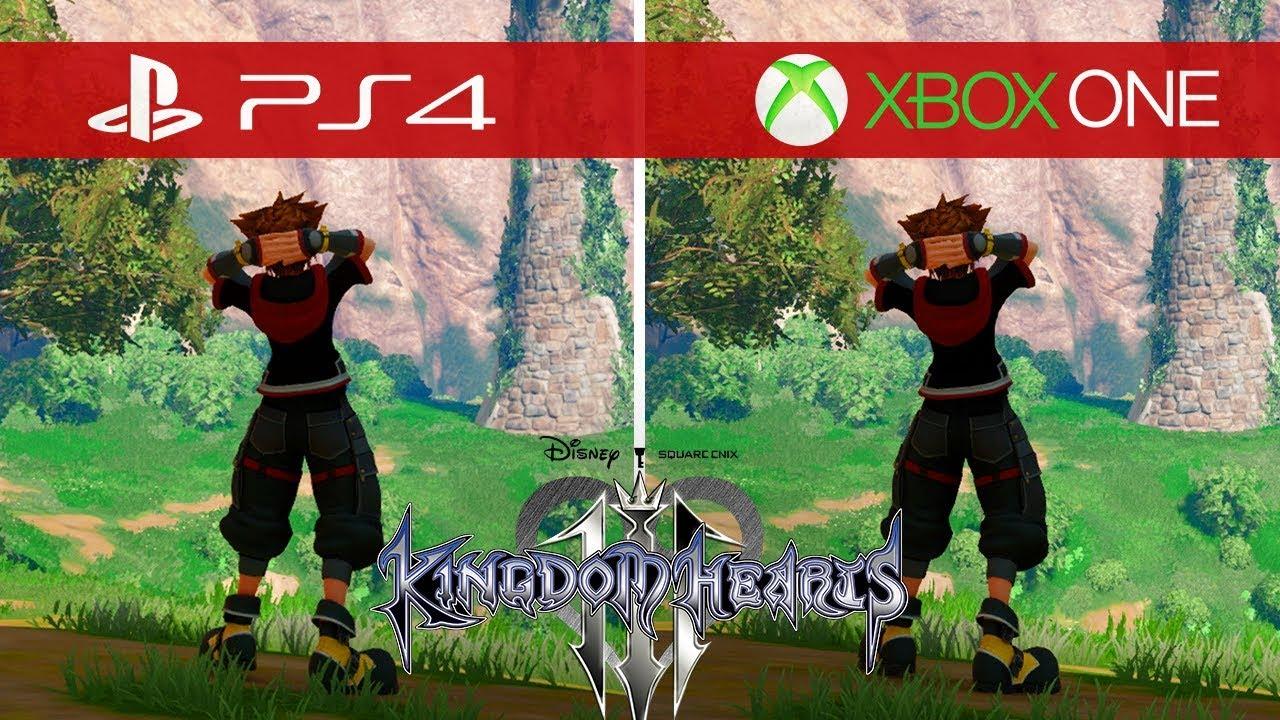 Kingdom Hearts 3 Comparison Xbox One Vs Xbox One S Vs