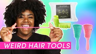 Women Try Weird Tools For Natural Hair
