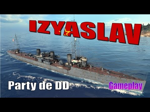 World of warships Izyaslav gameplay    DD Ruso TIV    WOWs en español