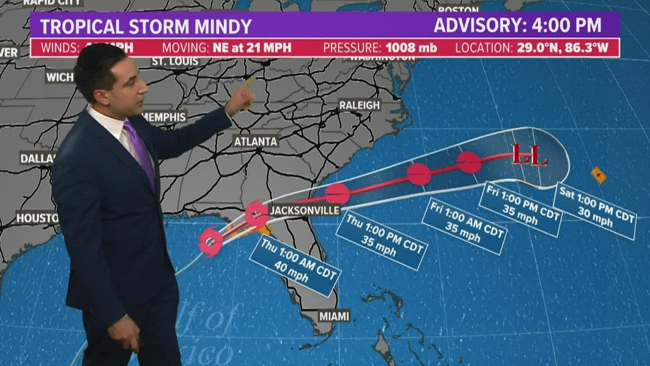 Tropical Storm Mindy forms in Gulf of Mexico