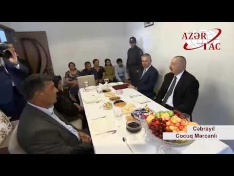 Prezident İlham Əliyev yenidən qurulan Cocuq Mərcanlı kəndində görülən işlərlə tanış olub