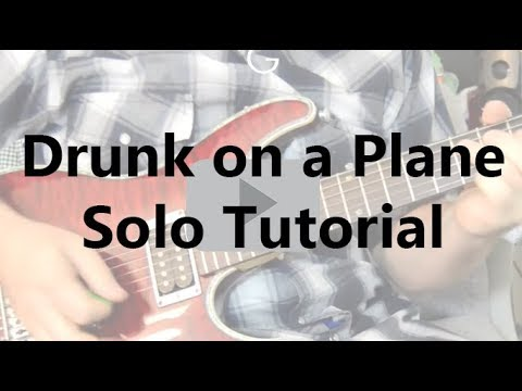 How to play Drunk on a plane lead guitar solo Lesson - Dierks Bentley