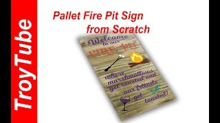 How to make a weathered look pallet sign / fire pit sign (using Siser EasyPSV)