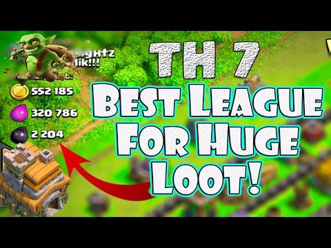 Th7 Farming Attack Strategy | Best League To Farm For Maximum Big Loot | Clash Of Clans