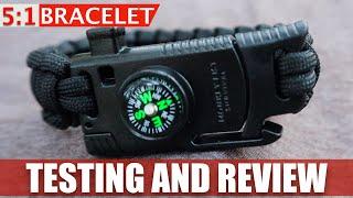 Testing the 5 in 1 Survival Bracelet
