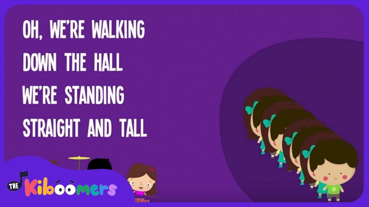 Hallway Line | Kids Song | Back to School | Song Lyrics | Preschool | Kindergarten