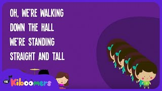 Hallway Line | Kids Song | Back to School | Song Lyrics | Preschool | Kindergarten