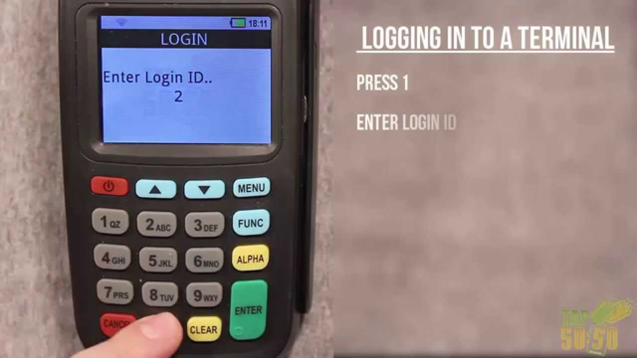 How to Log into Tap5050 Raffle terminal
