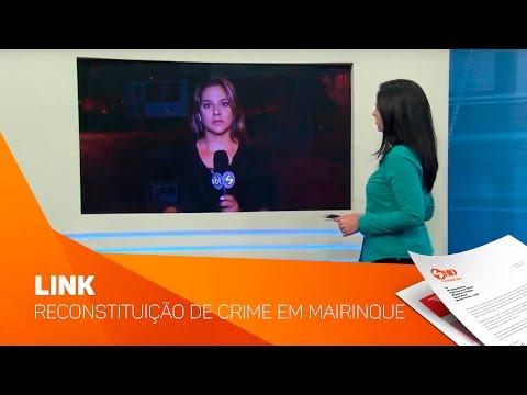 Link reconstituição de crime em Mairinque - TV SOROCABA/SBT