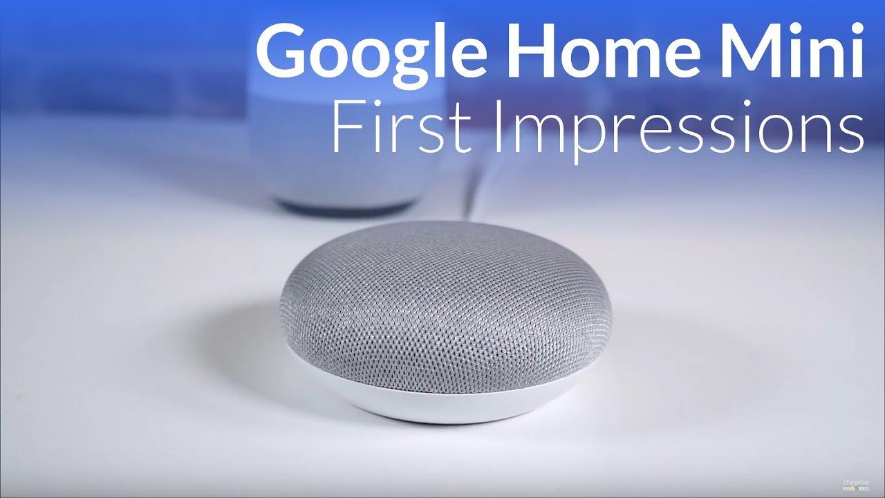 Google Home Mini Initial Impressions Youtube