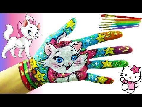Thumbnail: Learn Colors for Children Body Paint with Hello Kitty . Learning Colors Video for Children