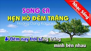 Hẹn Hò Đêm Trăng Karaoke nhạc sống cha cha cha - Hen ho dem trang karaoke song ca