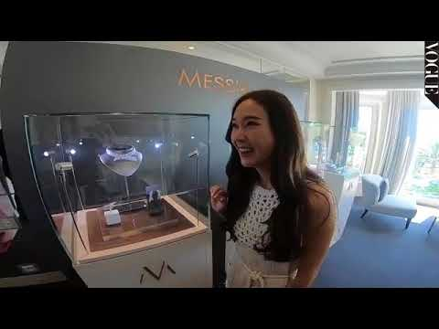 jessica Jung fited her dress for Cannes