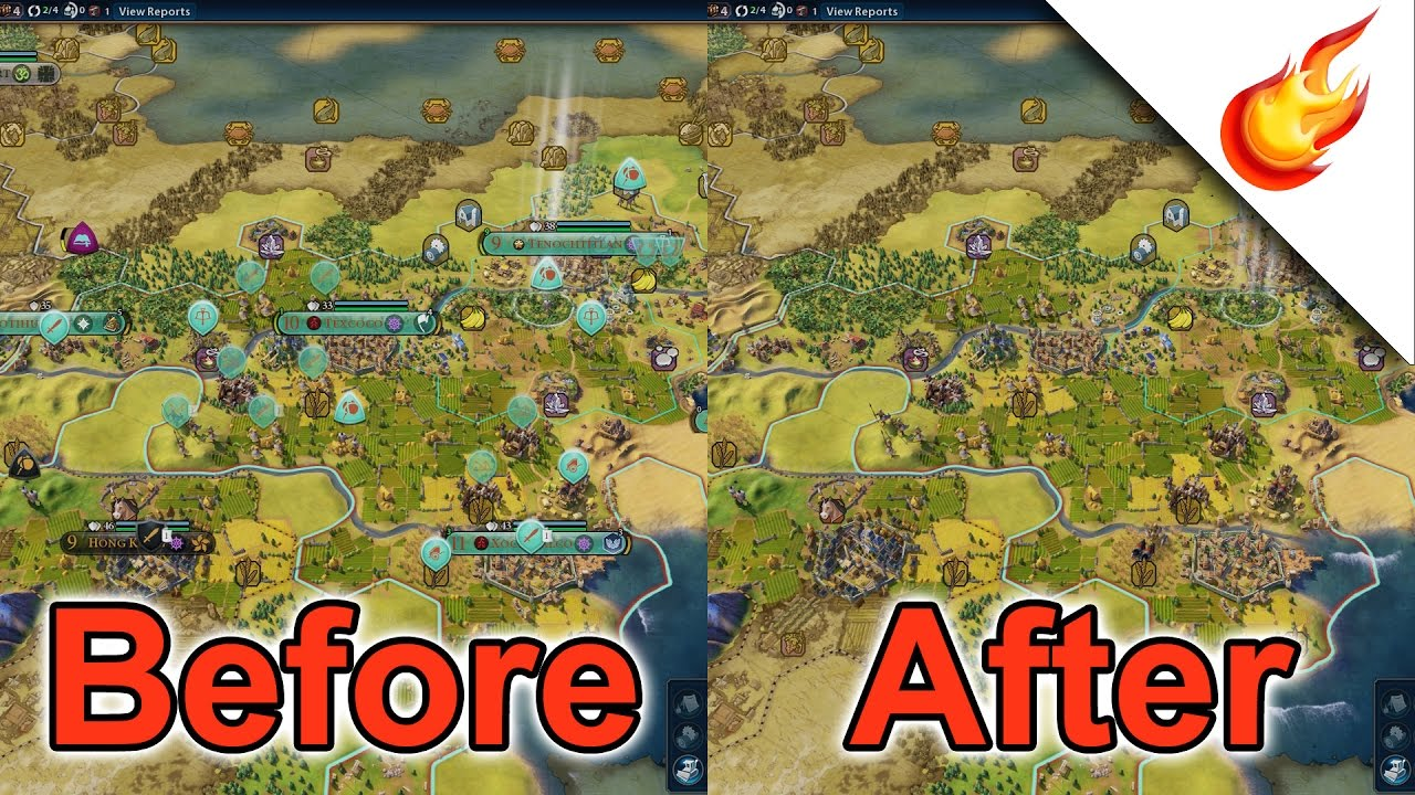 Turn OFF Unit Map Icons In CIVILIZATION VI - Hotkeys Mod