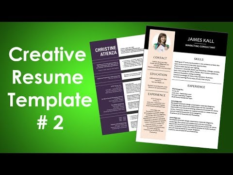 How to Create Creative Resume Design in Microsoft Word - Clean CV - creative resume template word