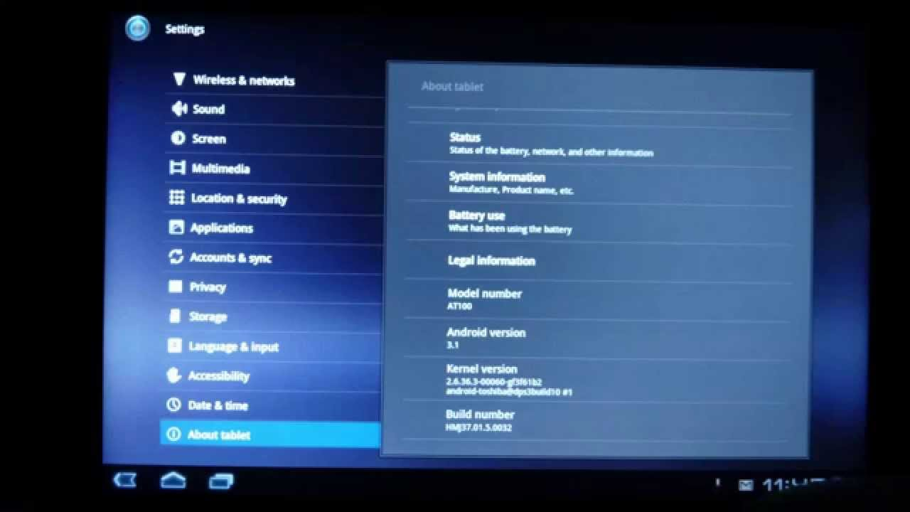 Update Firmware on Toshiba Thrive tablet - YouTube