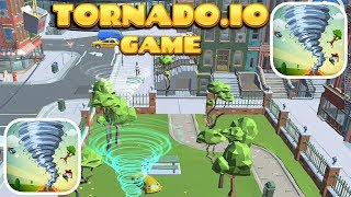 Tornado.io Game In Hole.io Map - Gameplay And First Highscores - (iOS)