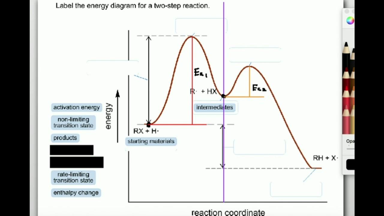 labeling parts of a reaction coordinate diagram [ 1280 x 720 Pixel ]
