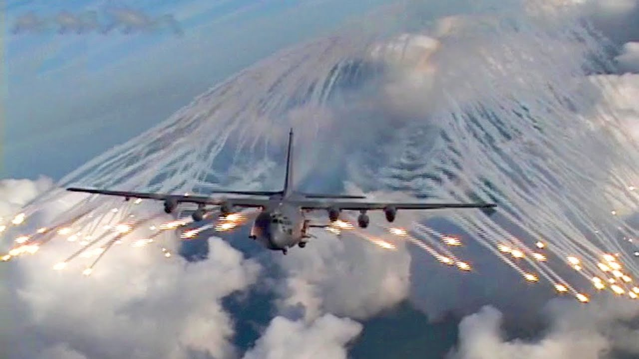 ac 130 angel wing flare youtube