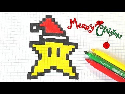 Handmade pixel-art. Christmas kawaii STAR. - YouTube
