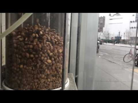 Coffee beans roasting in slow motion - Roasting Plant, West Village NYC