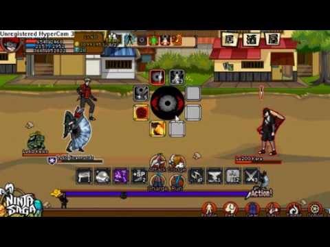 HACK ninja saga pelear con kara nivel 200