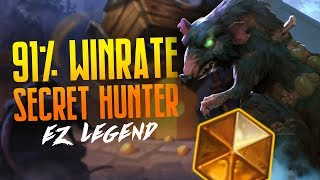 91% Winrate to Legend with Secret Hunter | Hearthstone