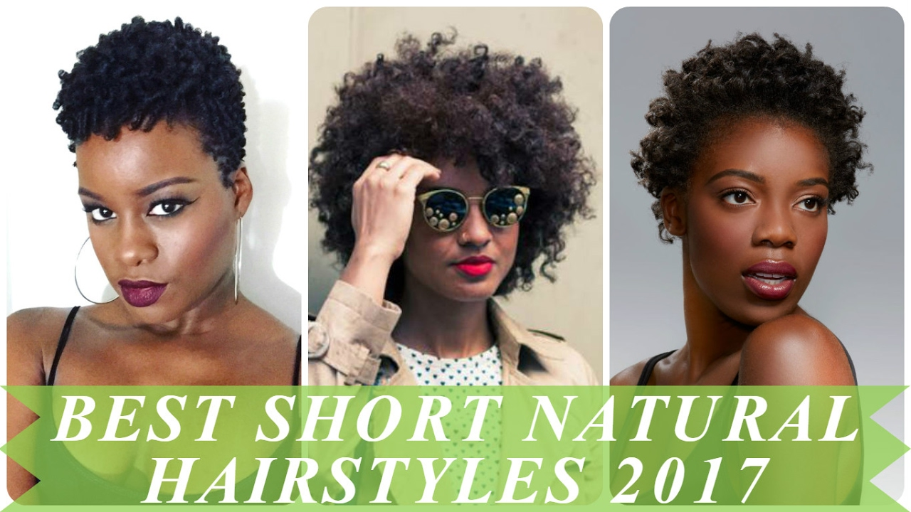 best short natural hairstyles for african women 2017 - youtube