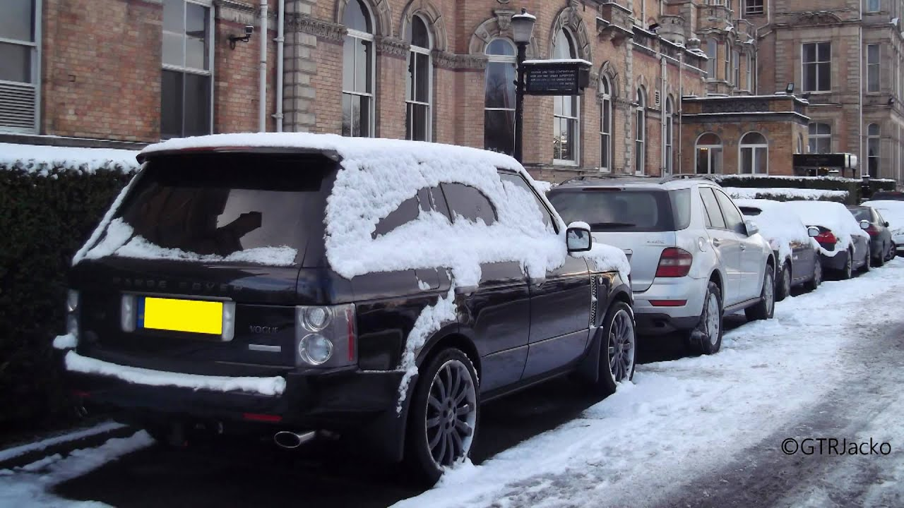 White Land Rover >> RARE Black Overfinch Range Rover Vogue 580S Supercharged in the Snow - YouTube