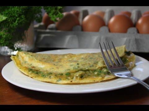 Breakfast omelette the Mediterranean way - eggah عجة البيض
