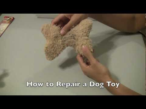 How to fix a dog toy so it's just like new