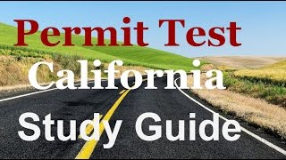Permit test study guide California-Driver's License