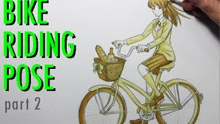How to Draw Someone Riding a Bicycle [Part 2: The Bike]