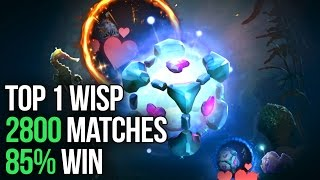 Top 1 IO Player Dotabuff - 2800 Matches - 85% Win - Wisp Arcana Dota 2