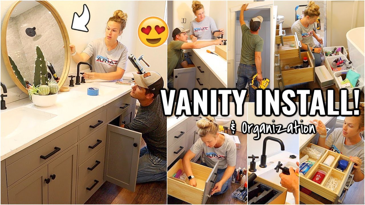 VANITY INSTALL!!😍 BATHROOM MAKEOVER PART 7 | RENOVATION HOUSE PROJECTS & INSTALLATION