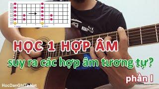 Học đàn guitar cơ bản - Cách COPY THẾ BẤM 1 hợp âm ra các hợp âm khác phần 1 [HocDanGhiTa.Net]